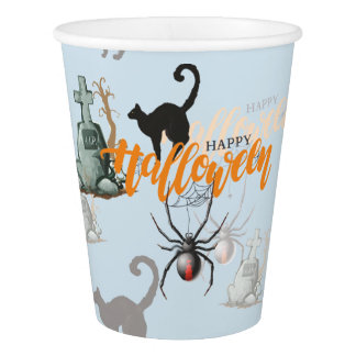 Halloween Spider Grave Paper Cup