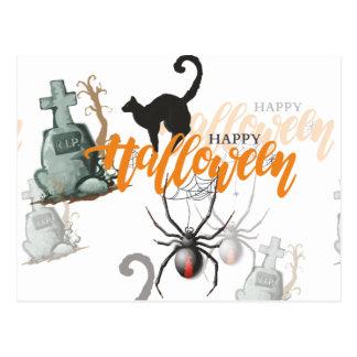 Halloween Spider Grave Postcard