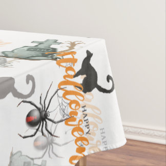 Halloween Spider Grave Tablecloth