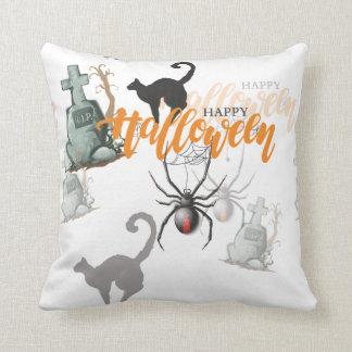 Halloween Spider Grave Throw Pillow