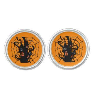 Halloween Spider House Cufflinks