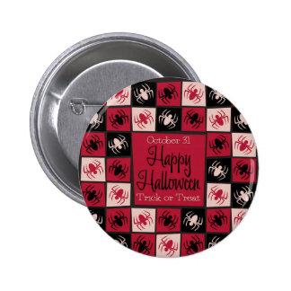 Halloween spider mosaic 2 inch round button