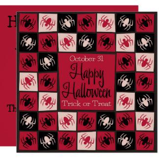 Halloween spider mosaic card