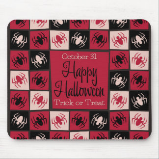 Halloween spider mosaic mouse pad