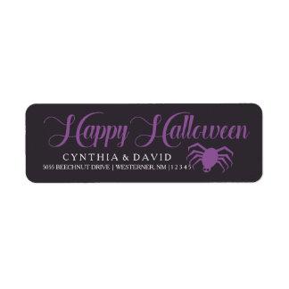 Halloween Spider Return Address Label