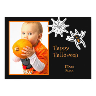 Halloween Spider & Spider Web Photo Frame or Card