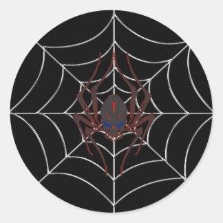 Halloween Spider Web Classic Round Sticker