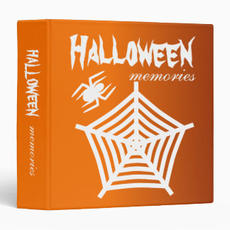 Halloween Spider & Web Scrapbook / Photo Album 3 Ring Binders