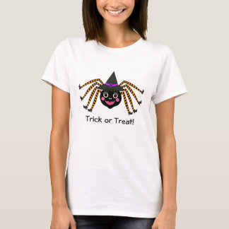 Halloween Spider Witch Trick or Treat T-Shirt