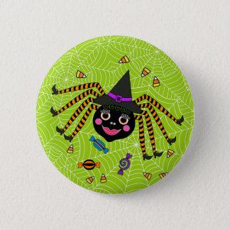Halloween Spider Witch with Candy Round 2 Inch Round Button