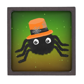 Halloween Spider With Top Hat Premium Jewelry Boxes
