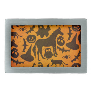Halloween Spook Unicorn Rectangular Belt Buckle