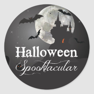 Halloween Spooktacular Haunted Castle Classic Round Sticker