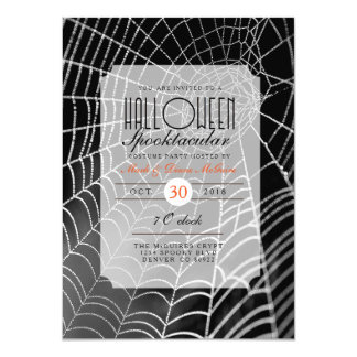 Halloween Spooktacular | Spider Web Party Invite