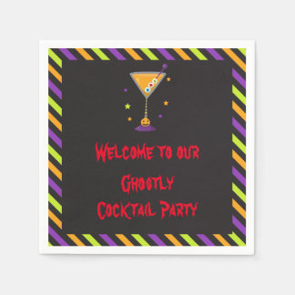 Halloween Spooky Cocktails Party Paper Napkin