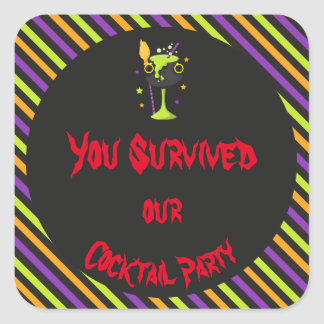 Halloween Spooky Cocktails Party Square Sticker