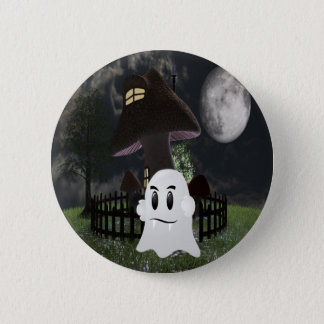 Halloween spooky ghost 2 inch round button