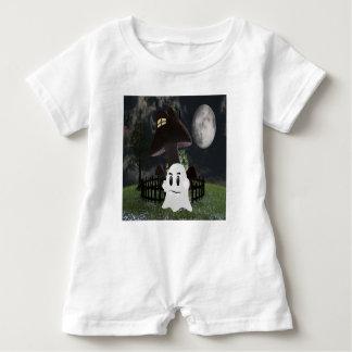 Halloween spooky ghost baby romper