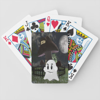 Halloween spooky ghost bicycle playing cards
