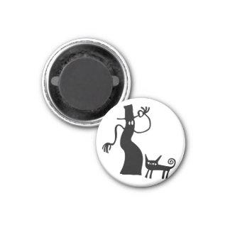 Halloween Spooky Ghost Black Cat Silhouette Magnet