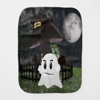 Halloween spooky ghost burp cloth