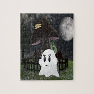 Halloween spooky ghost jigsaw puzzle