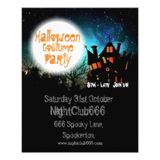 Halloween Spooky House Full Colour Flyer