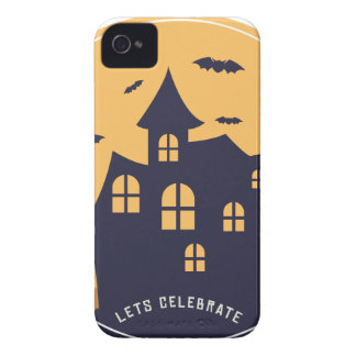 Halloween Spooky Mansion and Bats iPhone 4 Case