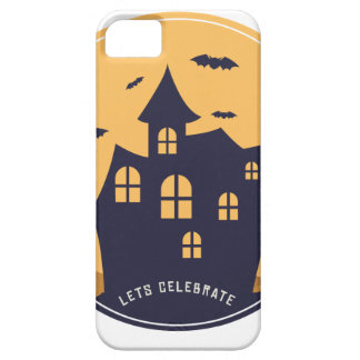 Halloween Spooky Mansion and Bats iPhone 5 Cover