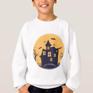 Halloween Spooky Mansion and Bats Sweatshirt