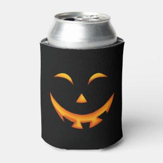 Halloween spooky pumpkin can cooler