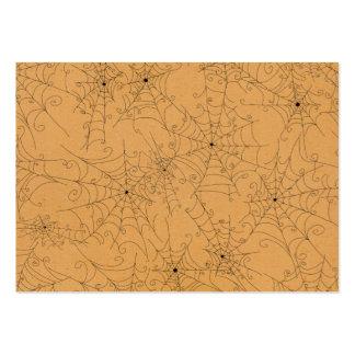 Halloween Spooky Spider Webs Pattern Business Card