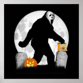 Halloween Squatchin' Posters