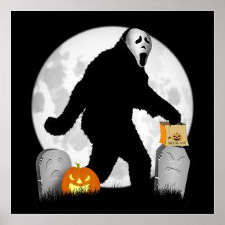 Halloween Squatchin' Poster