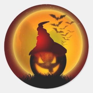 Halloween Sticker Rond