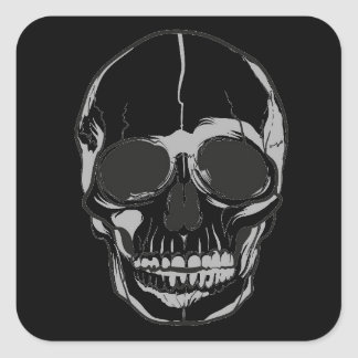 Halloween Stickers-Skull Square Sticker
