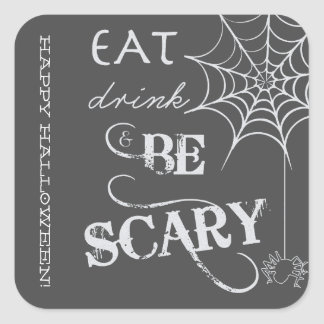 Halloween Stickers with Eat, Drink, & Be Scary