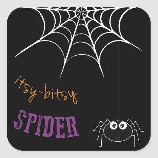 Halloween Stickers with Spider Web