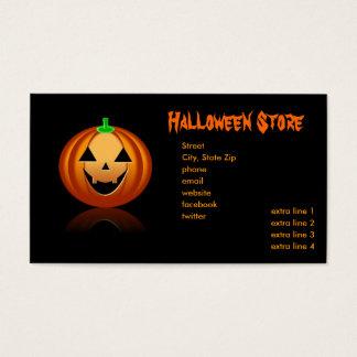 Halloween Store Business Card