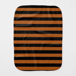 Halloween Stripes Burp Cloth
