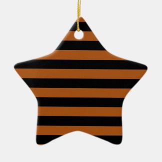 Halloween Stripes Ceramic Ornament