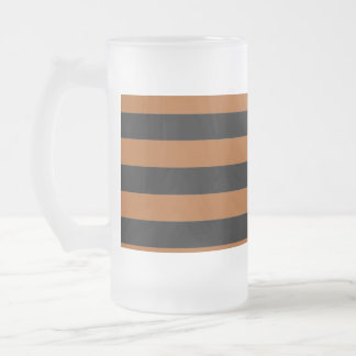 Halloween Stripes Frosted Glass Beer Mug