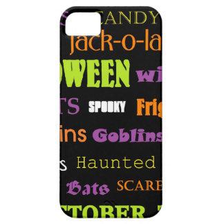 Halloween Subway Art Words iPhone 5 Case