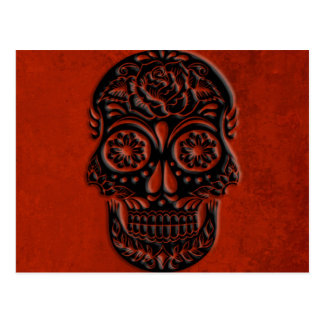 Halloween Sugar Skull Postcard