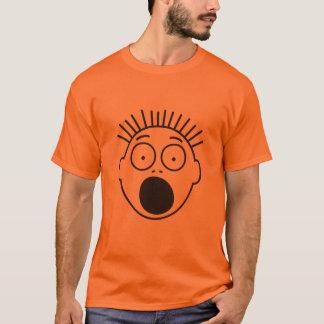 Halloween Super Scared Stick Figures's Face T-Shirt