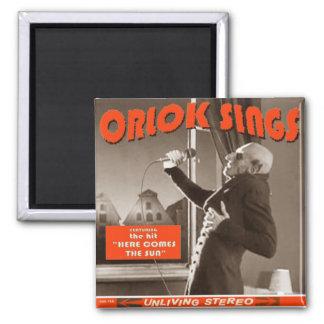 Halloween swag: Orlok Sings! Square Magnet