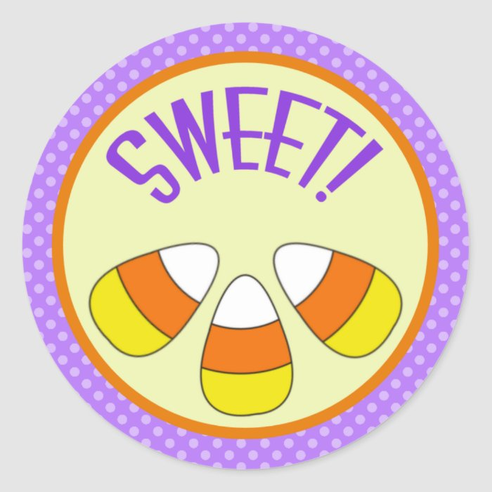 Halloween Sweet Candy Corn Sticker