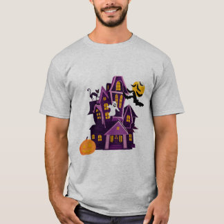 Halloween T-Shirt A haunted house! Spooky fun!