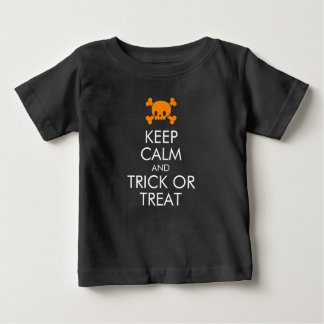 """Halloween T-Shirt: """"Keep Calm and Trick or Treat"""" Baby T-Shirt"""
