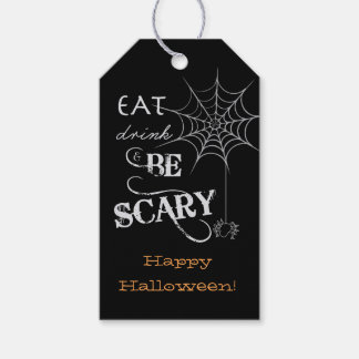 Halloween Tags   Spider Web Design Pack Of Gift Tags
